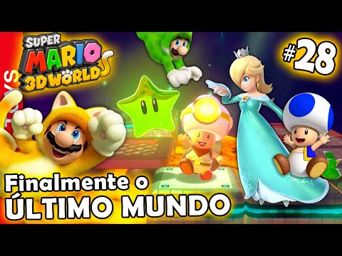 Super Mario 3d World #28 - CHEGOU O DIA!!! Finalmente conseguimos gravar o Último Mundo, COROA! 🌎👑