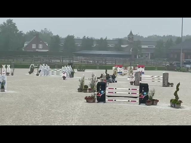 Mother Full-sister top young stallion Opium JW v/d Moerhoeve, rider Willem Greve