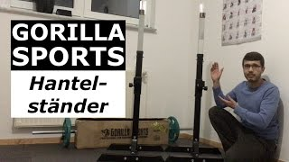 Gorilla Sports Langhantel Hantelständer unboxing & Review Video