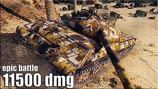 БЕШЕНЫЙ Объект 430У 🌟 11500 dmg 🌟 World of Tanks лучший бой Об 430У