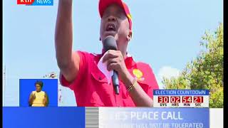 President Uhuru Kenyatta sends a resounding warning to NASA over planned demos