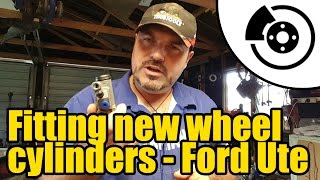 #1315 - Ford Courier rear brakes -  fitting new wheel cylinders