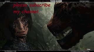 Shadow of the tomb raider gameplay with subtitle jaguar fight[1080P HD 60FPS]PC