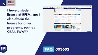 FAQ 003602 | I have a student license of RFEM, can I also get a license for other programs such a...