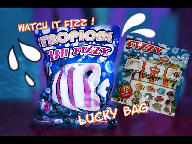 Fairies TROPICAL FISH FIZZY SURPRISE 驚き4K 깜짝 Kinder Watch it Fizz Lucky Bag 突擊 opening Überraschung