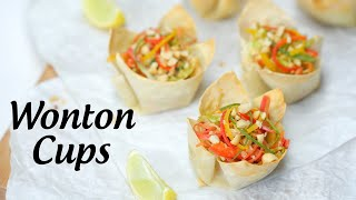 Baked Wonton Cup