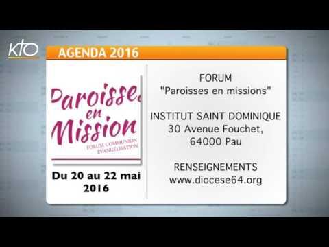 Agenda du 13 mai 2016