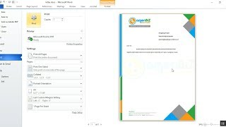 how to write or print on letterhead