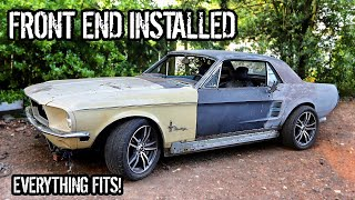 1967 Mustang Front End Installed On Oscars 2016 Mustang GT