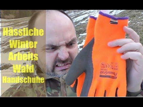 hässliche Wald-Winter-Arbeitshandschuhe...