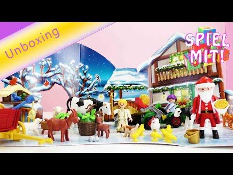 Playmobil Deutsch Adventskalender Weihnacht auf dem Bauernhof - Wir öffnen ALLE Türchen!