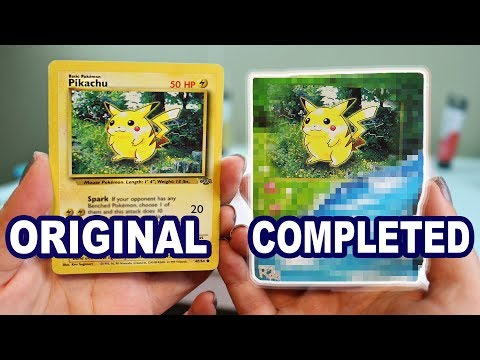 Painting In The Background Of Pokémon Cards *what they should look like*