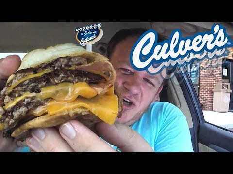 Culver's ☆TRIPLE CHEDDAR BACON BUTTERBURGER☆ Food Review!!!