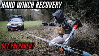 HAND WINCH Off Road Recovery Techniques Training