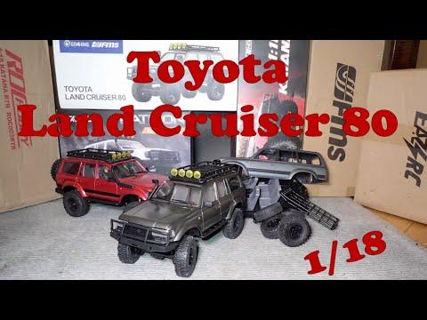 FMS Toyota Land Cruiser 1/18 compared to RocHobby Katana and EazyRC Patriot