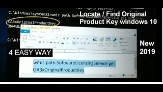 how to find or Locate Original windows 10 Product key on windows 10 PC, 4 ways [Verified]