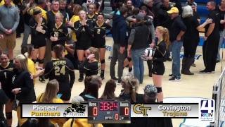 Frankfort Volleyball Semi-State: Pioneer vs Covington