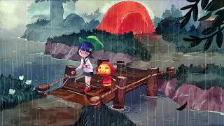 a rainy town || animal crossing ost + thunderstorm ambience
