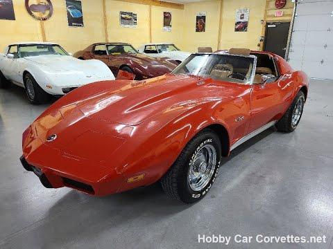 1975 Red Corvette Stingray Saddle Interior Video