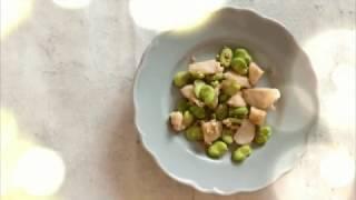 宝塚受験生のダイエットレシピ〜帆立とそら豆の花椒炒め〜のサムネイル画像