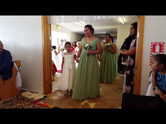 Nathan and Oina Wedding 4 June 2016 - Groom and Bridal Party Entrance
