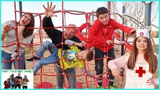 INFECTION Tag Game IN REAL LIFE   PLAYGROUND WARS!  That YouTub3 Family