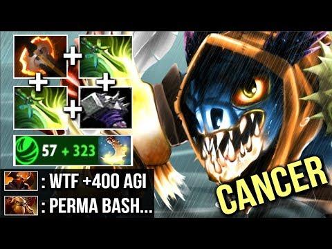 WTF BASH +400 AGI Battle Fury Slark vs Chaos Knight The Most Cancerous Hero 7.13 Dota 2