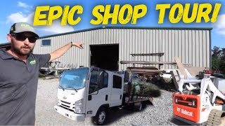 Million Dollar Lawn Care Company Shop Tour ► Its His Turf HQ!