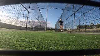 Bowling (Cricket) -  GoPro Stump Cam Perspective