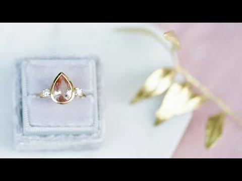 Jewellery Making Tips: Peach Morganite Ring