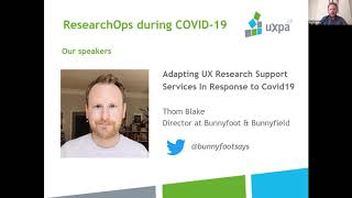 UXPA UK   August 2020   ResearchOps during COVID 19