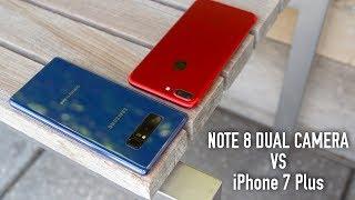 Samsung Galaxy Note8 Dual Camera Tour vs Apple iPhone 7 Plus Portrait Mode
