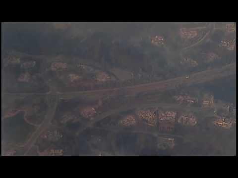 Tubbs Fire Santa Rosa aerial view