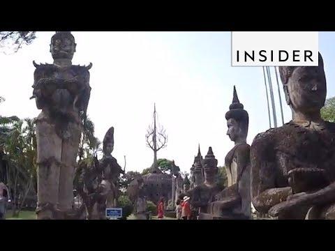 Incredible Buddha Park in Laos