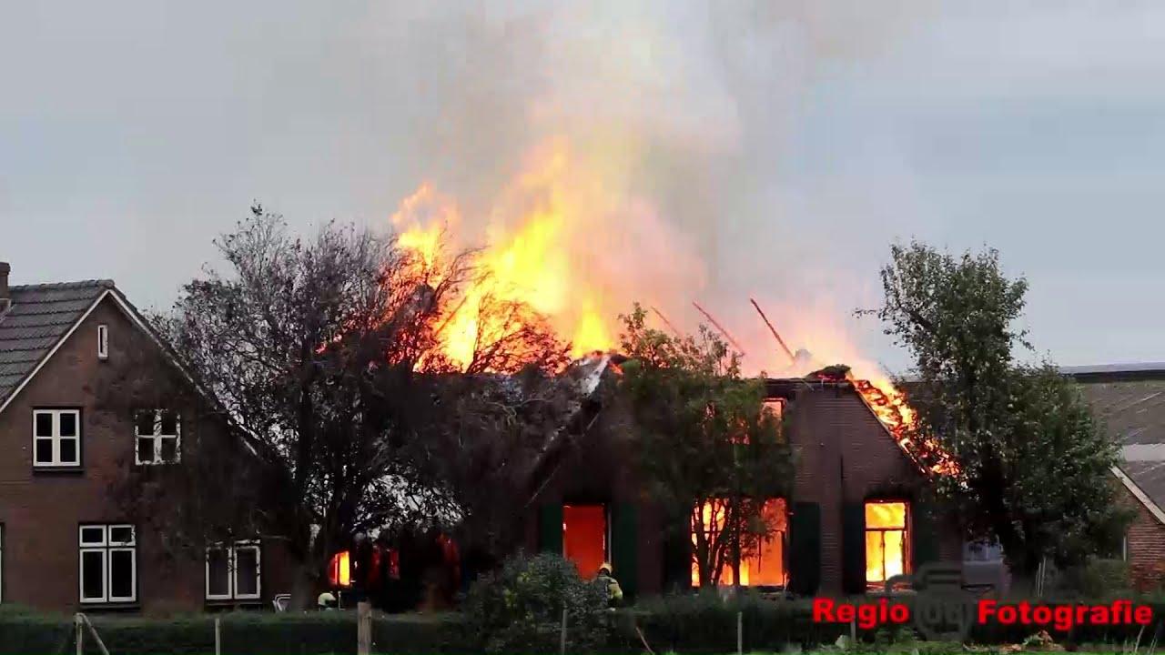 Grote brand bij Boerderij in Terwolde
