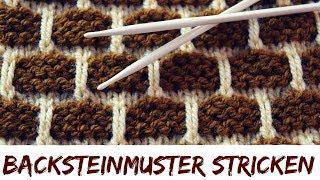 Backsteinmuster stricken | Strickmuster #61
