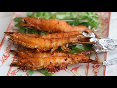 Tôm Nướng Muối Ớt – Grilled Chili Shrimps (1-min recipe)