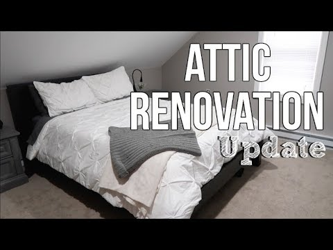 HOME RENOVATION   ATTIC MASTER BEDROOM   UPDATE