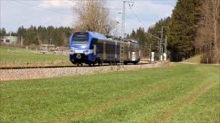 preview picture of video 'Meridian auf der Strecke Holzkirchen - Rosenheim'