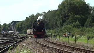preview picture of video 'ZLSM stoomtrein vertrekt uit Simpelveld'