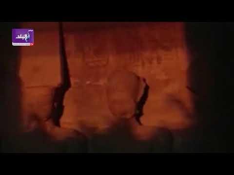 لحظة تعامد الشمس على وجه رمسيس الثاني في ابو سمبل