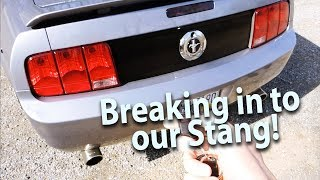 Had to break into our Stang!! - 05-09 S197