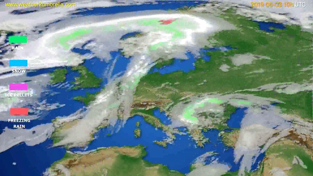 Precipitation forecast Europe // modelrun: 12h UTC 2019-05-31
