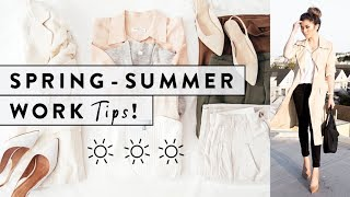 7 Work Fashion Tips For Spring & Summer | How To Dress For Work Spring To Summer | Miss Louie