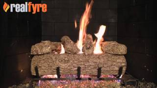 Golden Oak gas logs for the fireplace