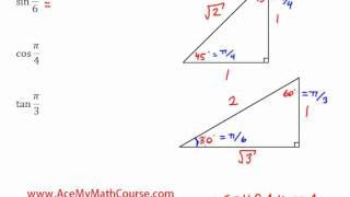 Trigonometric Ratios & Special Triangles - Introduction