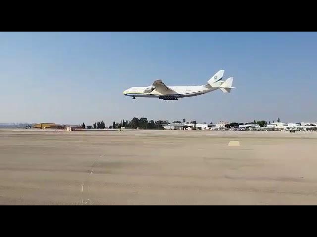 30 גלגלים ושישה מנועים: המטוס הגדול בעולם נחת בישראל - האנטונוב AN-225