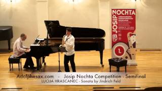 JOSIP NOCHTA COMPETITION LUCIJA HRASCANEC Sonata by Jindrich Feld