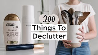 200 Things To Get Rid Of In 2020 | Ultimate Decluttering Guide | + Free PDF Checklist