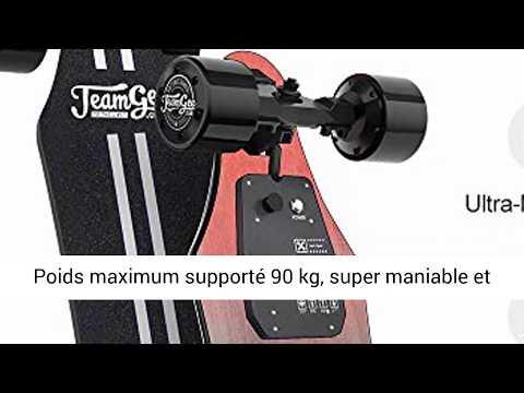 AVIS - Teamgee H5 Longboard Électrique-Skateboard Adulte avec Télécommande sans Fils-Moteurs Doubles